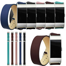 Long Genuine Leather Band Double Tour Bracelet Watchband For Fitbit Charge 2