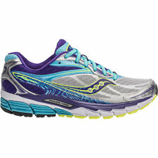 Saucony Ride 8 Women's Running Shoes. Sizes 6.0-10.0. Color- Silver/Purple/Blue