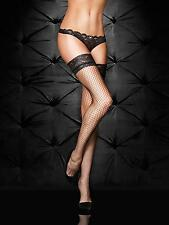Ann Summers Womens Lace Top Fishnet Hold Up Black Lace Sexy Stockings Hosiery