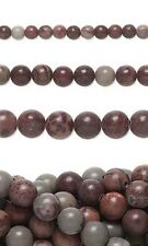 Lot of 50 Round Brown Mauve Crazy Horse Natural Gemstone Stone Beads Small - Big