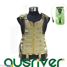 FLYYE Army Combat Delta Tactical Mesh Vest Military Molle+ 3L Hydration Bladder