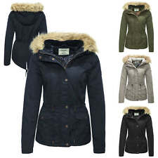 Only Women's Ladies Winter Jacket Parka Hooded Short Quilted Winter Coat Color