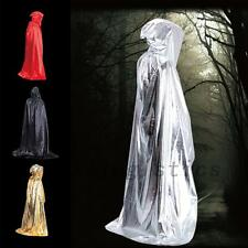 Fashion Fabric Hooded Cape Halloween Costume Fancy Dress Witches Long Cloak