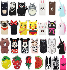 New 3D Cartoon Disney Soft Silicone Rubber Case Cover Skin For iPhone 7/6/5G/4
