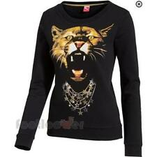 Puma graphic sweat 566823 01 woman black sweatshirt Moda Tiger winter 2015