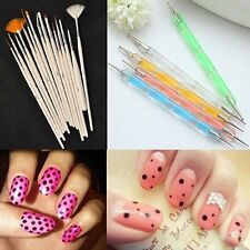 20Pcs Nail Art Salon Design Set Dotting Painting Drawing Polish Brushes Pen Tool