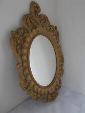 Vintage Ornate Style Gold Framed Oval Wall Mirror