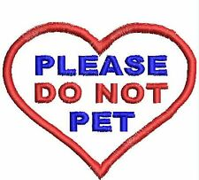 Do Not Pet Patch Service Dog Patch Heart Shaped Dog Working Black White Red