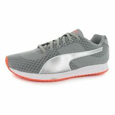 Puma Burst Running Shoes Womens Grey/Silver Run Fitness Trainers Sneakers