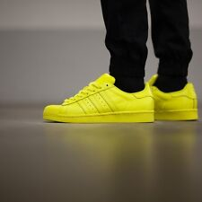 Adidas Superstar Pharrell Williams Supercolor Bright Yellow Sizes 6-12 DEADSTOCK