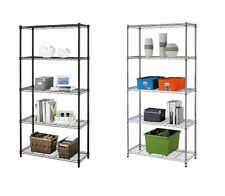 5 Tier Heavy Duty Shelves Adjustable Steel Wire Metal Shelf Storage NSF Rack