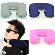 New Inflatable Travel Pillow Air Cushion Neck Rest U-Shaped Compact Flight