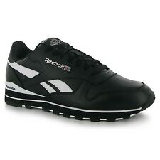 Reebok Classic Leather Clip Mens Shoes Trainers Blk/Wht Sneakers Sports Footwear