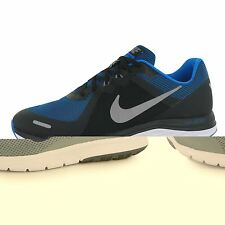 Nike Dual Fusion X Running Shoes Mens Black/Silver/Blue Sports Trainers Sneakers