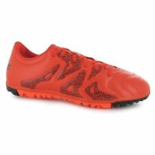 Adidas X 15.3 Leather Astro Turf Football Trainers Mens Bold Orange Soccer Shoes