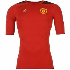 Adidas Manchester United TechFit Training Jersey Mens Red Football Soccer Shirt