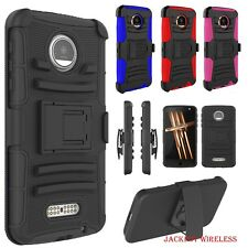 Shockproof Armored Rugged Holster Combo for Motorola Moto Z Droid Case Cover