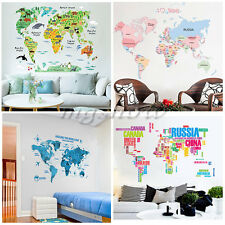 Animal Map World Bedroom Wall Decal Art Stickers Mural Home Vinyl Office School