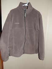 Men's COLUMBIA Jacket MEDIUM Brown Full Zip Fleece Excellent Condition M