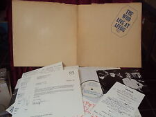 THE WHO LIVE AT LEEDS LP FOC 11 INSERTS ORIGINAL TRACK UK 2406001 TACKED COVER