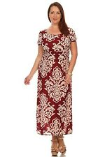 3351 - Plus Size Short Sleeve Relaxed Style with a Smocked Waist Maxi Dress