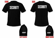 SECURITY POLICE T-Shirt Custom Screen Printed On Front & Back & Sleeves