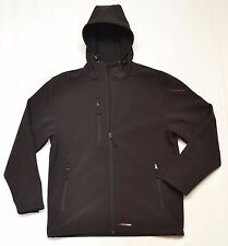 PRO SOFTSHELL HOODED JACKET WATER RESISTANT WINDPROOF BLACK WORKWEAR NOT SCRUFFS