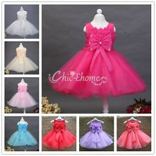 2017 Lotus Flower Girl Princess Party Pageant Wedding Bridesmaid Tutu Gown Dress