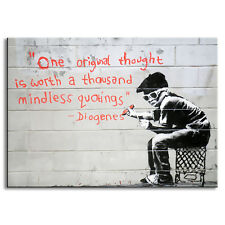 Banksy Art One Original Thought Worth a Thousand Quotings Canvas Print Painting