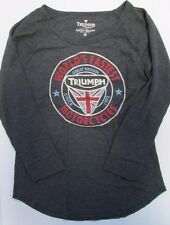 NWT Lucky Brand  T-Shirt Graphic Tee Triumph Motorcycles Sz S M