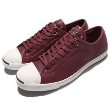 Converse Jack Purcell LP L/S Red White Mens Casual Shoes Sneakers 154152C