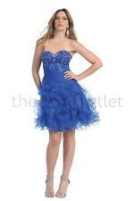 Short Homecoming Dresses Flirty Strapless Sweetheart Organza Prom Cocktail Party