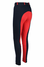 NEW TWO TONE HORSE RIDING CHILDREN JODS JODPHURS JODHPURS IN NAVY RED