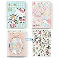JAPAN MADE 2017 SARNIO KITTY LITTLE TWIN STARS 10x15CM A6 SCHEDULE BOOK