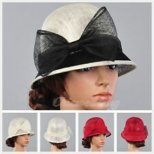3 Color Sinamay Kentucky Derby Church Wedding Tea Party Dress Sun Hat For Women