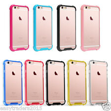 Super Shock proof Bumper Soft TPU Case Cover For iPhone  + Free tempered glass