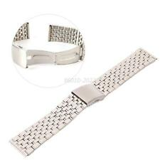 Chic Stainless Steel Silver Watch Band Belt Strap Band Bracelet Clasp 18-22mm