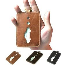 Genuine Cowhide Leather Driver License Card Case Holder Pouch Thin Wallet Purse