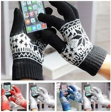 Unisex Christmas Xmas Touch Screen Mobile Warm Glove For iPhone Winter Magic