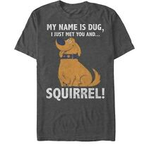 Up My Name is Dug Squirrel Mens Graphic T Shirt