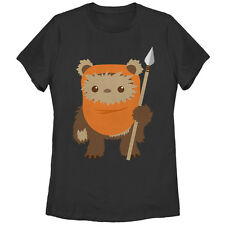 Star Wars Wicket Ewok Cartoon Womens Graphic T Shirt