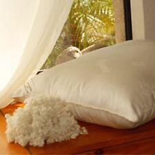 Certified Organic LUXURY WOOL BALL Bed/Decorative NONZIP Pillows w/ DAMASK Outer