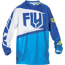 Fly Racing Youth Blue/Hi-Vis F-16 Jersey ( Boys Size: L / Large ) 370-921YL