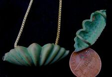 Vintage 13 x 36mm Patina Solid Brass Pendant Finding Bead