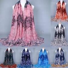 Fashion Women Lady Long Soft Cotton Floral Scarf Wrap Shawl Stole Scarves New