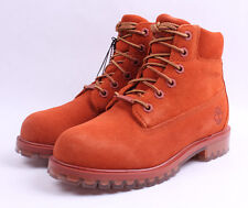 "Timberland 6"" Premium Icy Sole Limited Boots # TB0A1BKS Orange Big Kids 4 - 7"
