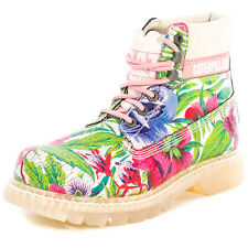 Caterpillar Colorado Flowers Womens Boots Pink Multicolour New Shoes