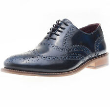 London Brogues Handcrafted Brogue Mens Brogues Navy New Shoes