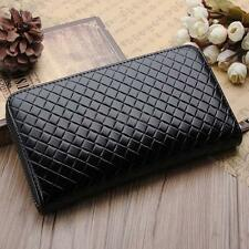 Men Leather Long Wallet  ID Credit Card Holder Phone Case Purse Clutch Zip New