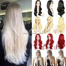 Long Wigs Curly Straight Costume Cosplay Party Fancy Dress With Fringe Wig Cap